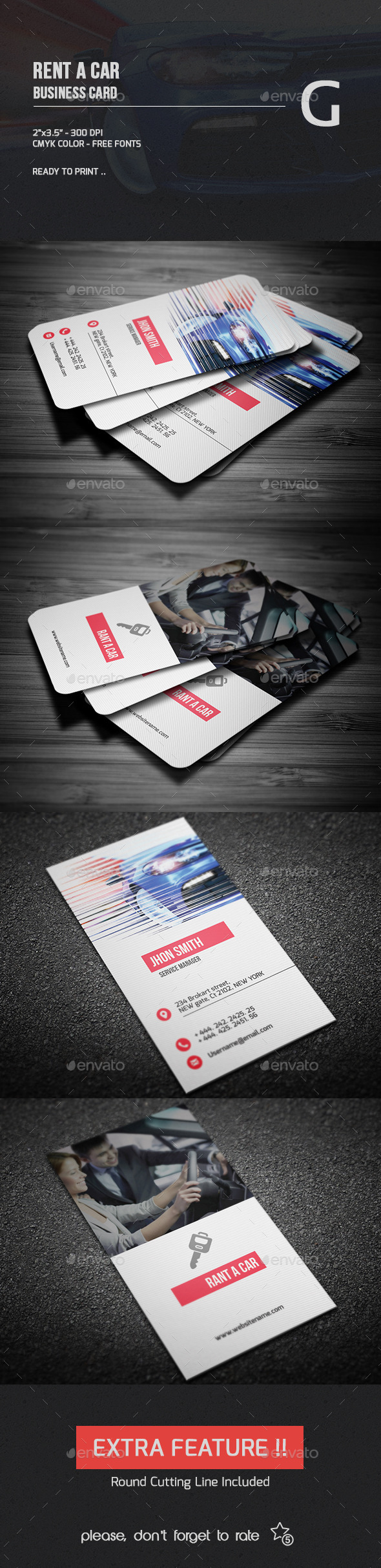 GraphicRiver Rent A Car Business Card 9819185
