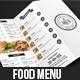 Simple & Clean Food Menu - GraphicRiver Item for Sale