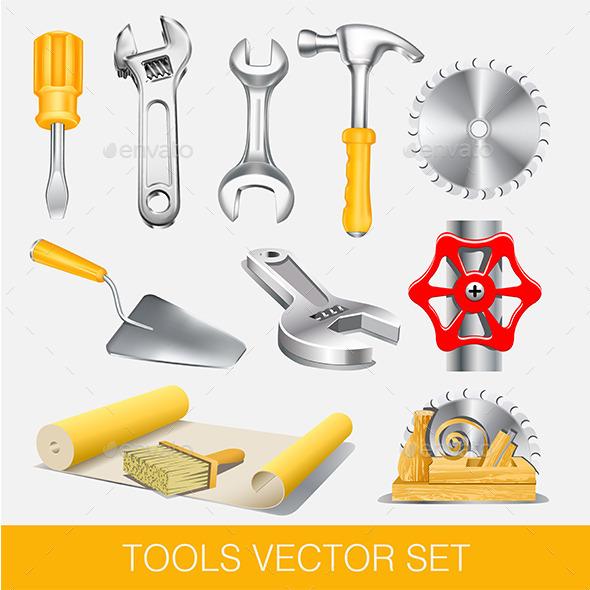 GraphicRiver Tools Set 9819210