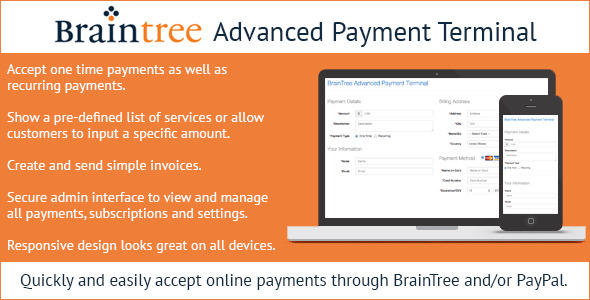 CodeCanyon Braintree Advanced Payment Terminal 9799343