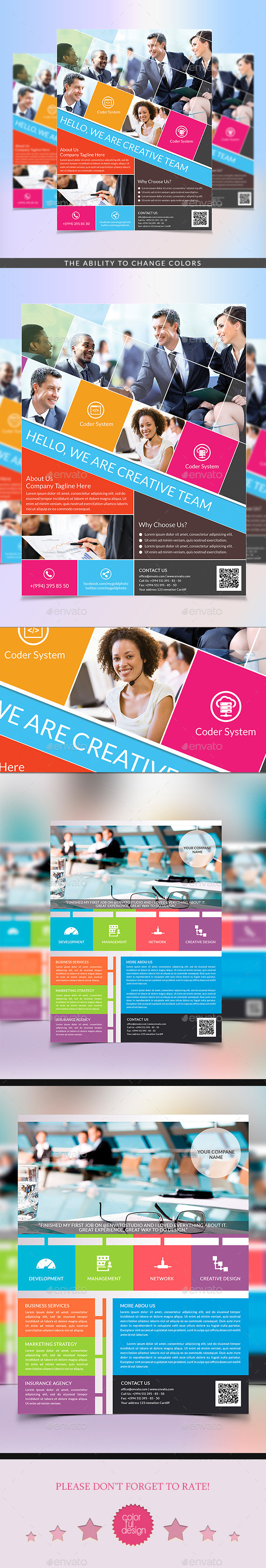 GraphicRiver Metro Style & Multipurpose Corporate Flyer 9819403