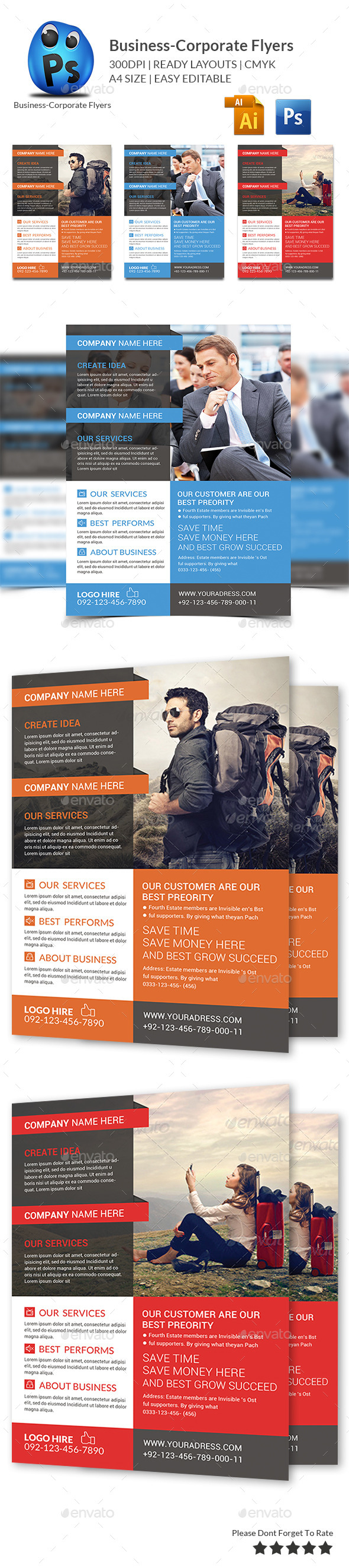 GraphicRiver Corporate Business Flyer Template 9819407