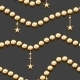 Golden Beads and Stars - GraphicRiver Item for Sale
