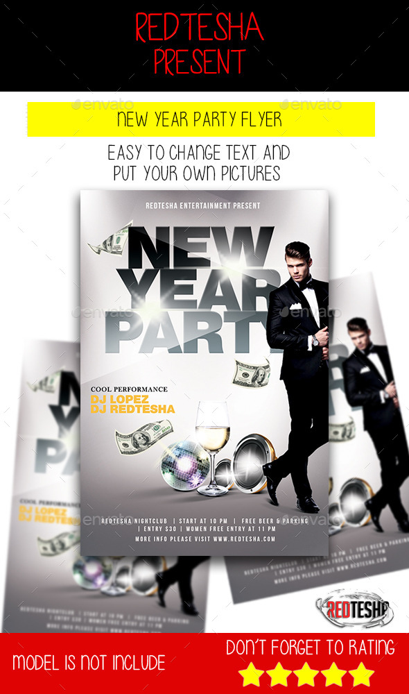 GraphicRiver New Year Party Flyer 9819593