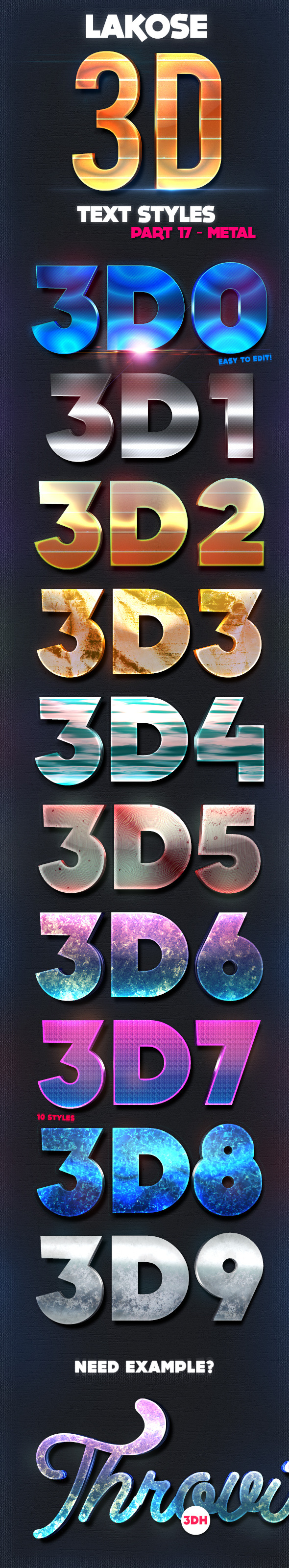GraphicRiver Lakose 3D Text Styles Part 17 9819613