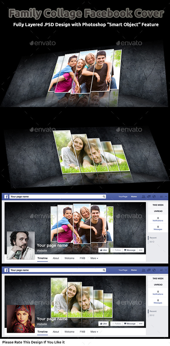 GraphicRiver Family Collage Facebook Cover 9819683