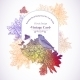 Floral Greeting Card with Birds - GraphicRiver Item for Sale