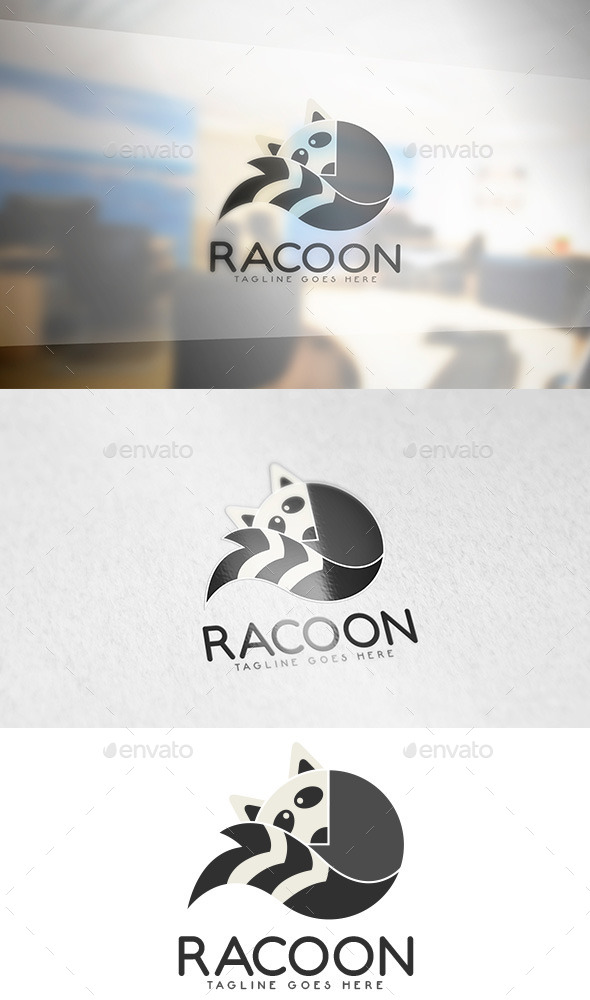 GraphicRiver Racoon Animal Logo 9588176