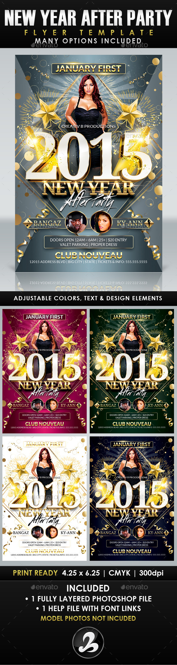 GraphicRiver New Year After Party Flyer Template 9819911