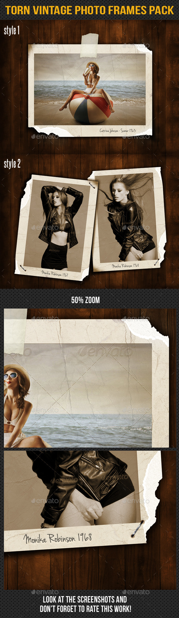 GraphicRiver Torn Vintage Photo Frames Pack 9820084