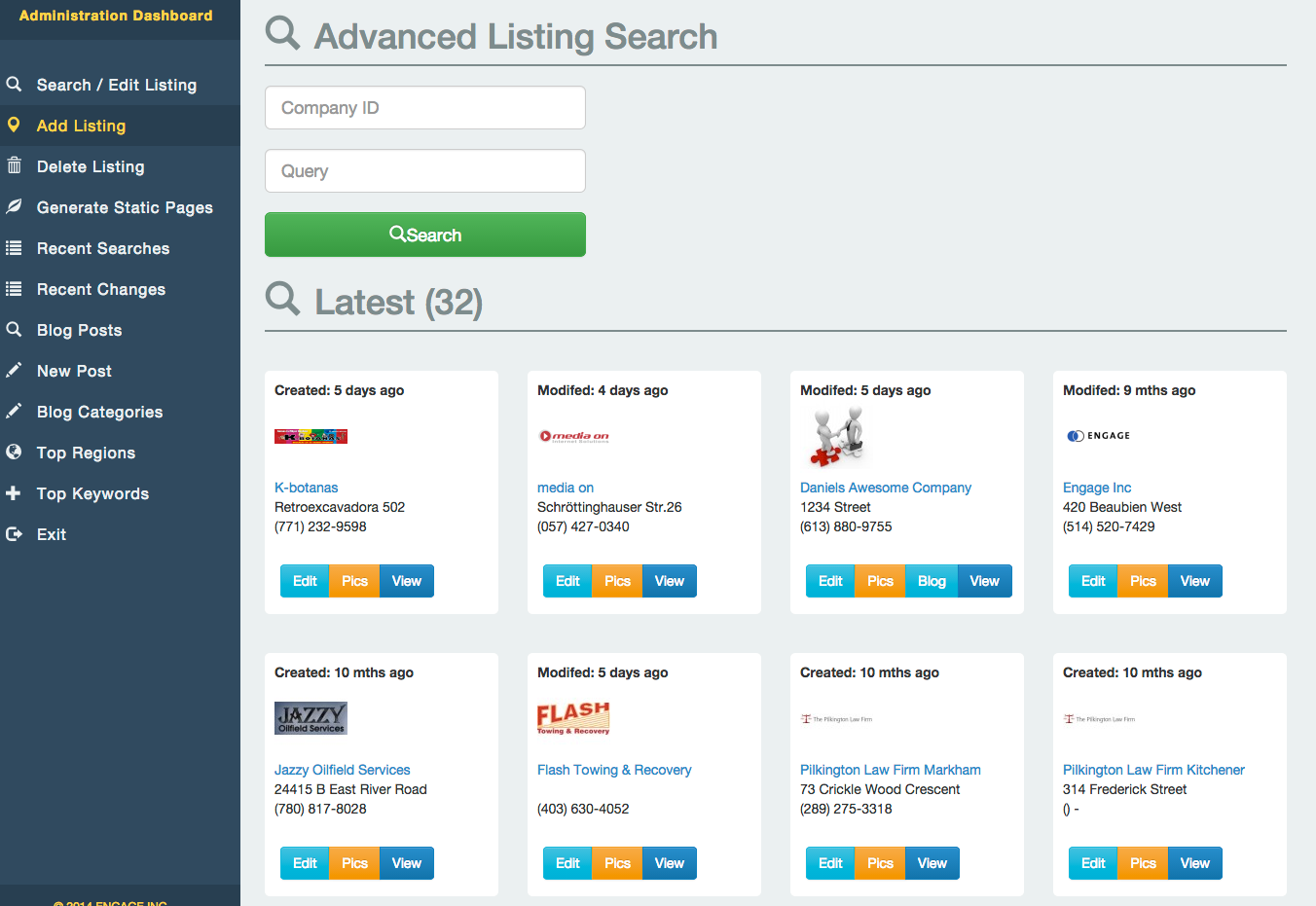 Liquid Listings PHP Business Directory by EngageTheWeb | CodeCanyon