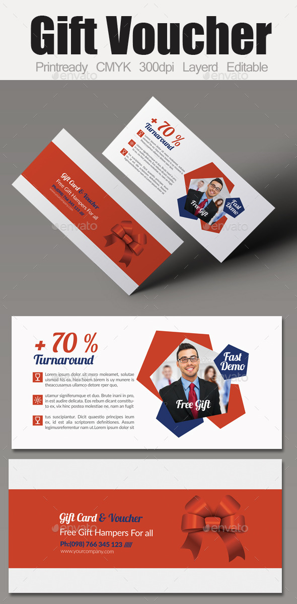 GraphicRiver Multi Use Business Gift Voucher 9662147
