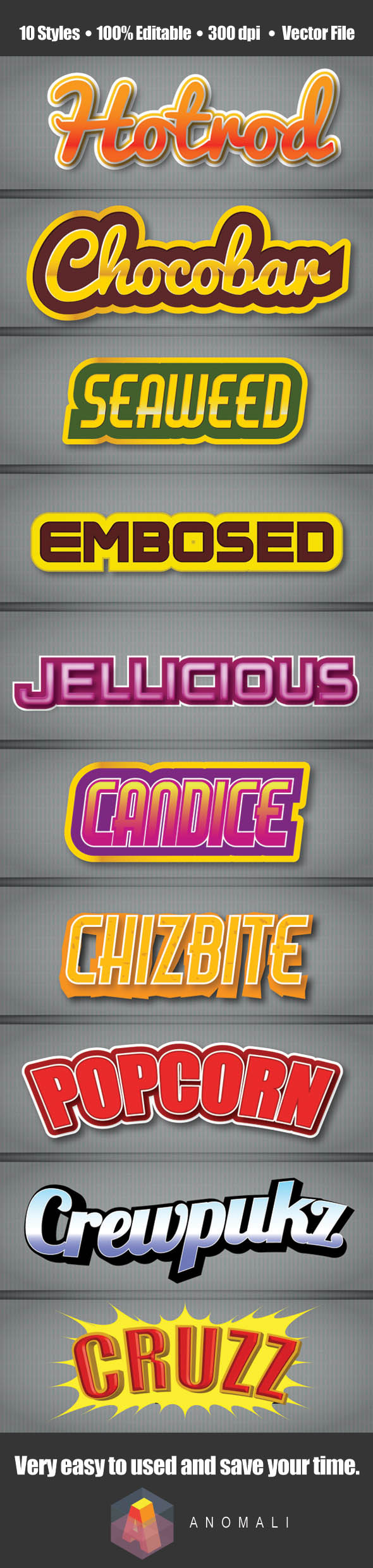 GraphicRiver Snack Pack Text Style 9821413
