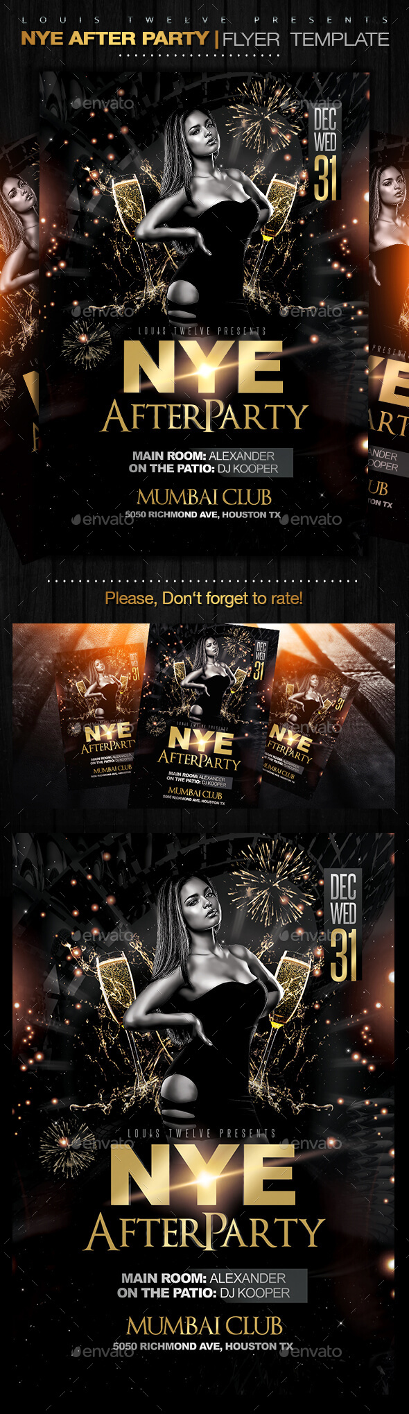 NYE After Party Flyer Template