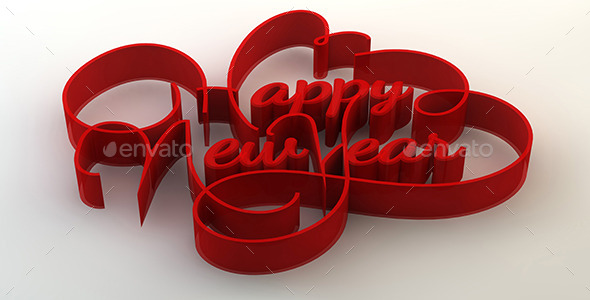 GraphicRiver Happy New Year 3D Text 9821813