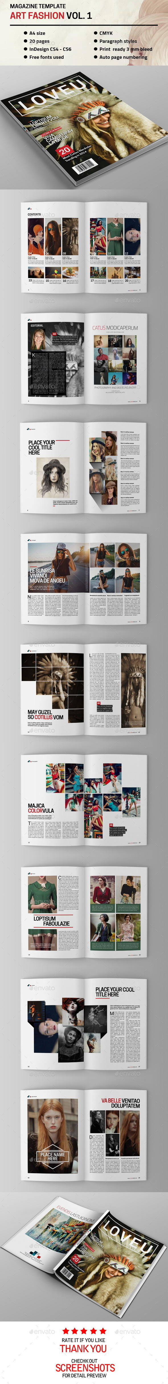 GraphicRiver Art Fahion Magazine Vol 1 9822137