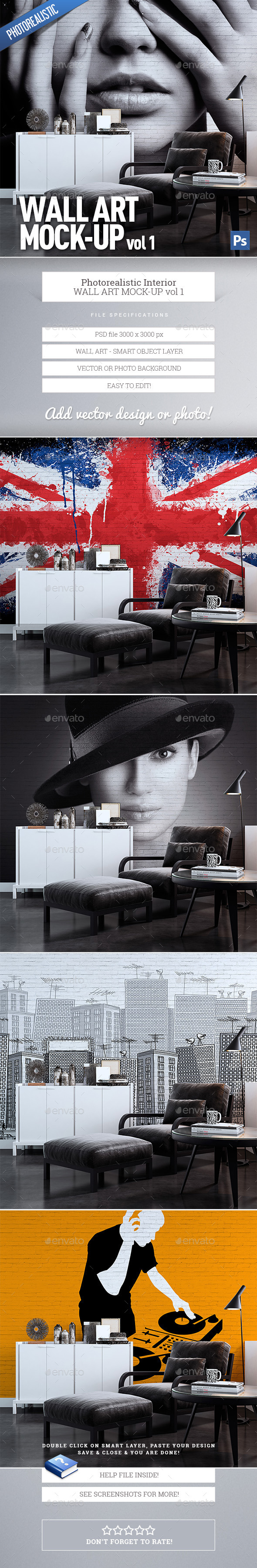 GraphicRiver Wall Art Mock-Up vol.1 9822161