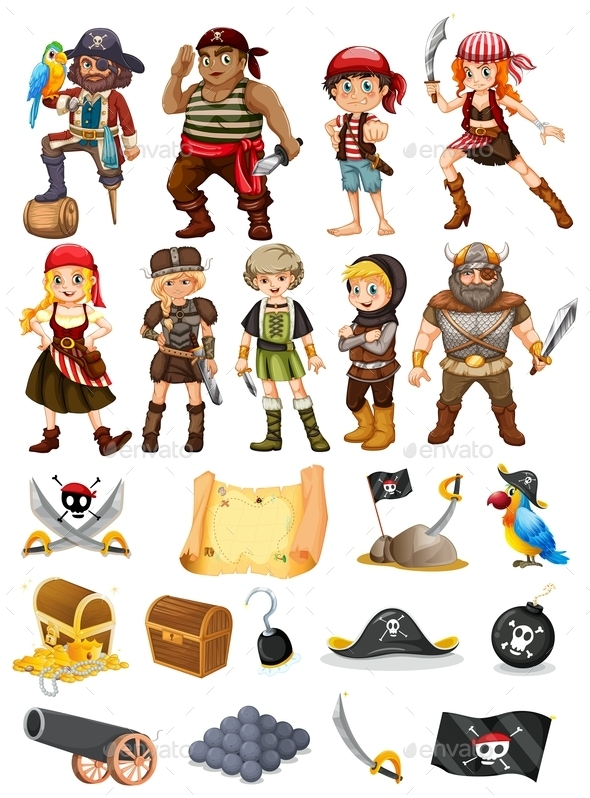 GraphicRiver Pirates and Vikings 9822386