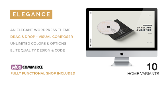 ELEGANCE A Creative WordPress Theme with Shop