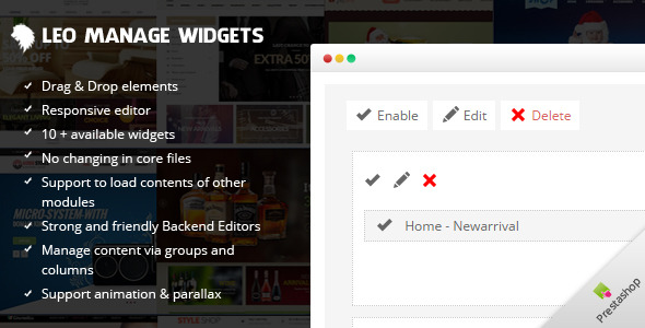 CodeCanyon Leo Manage Widgets 9822418