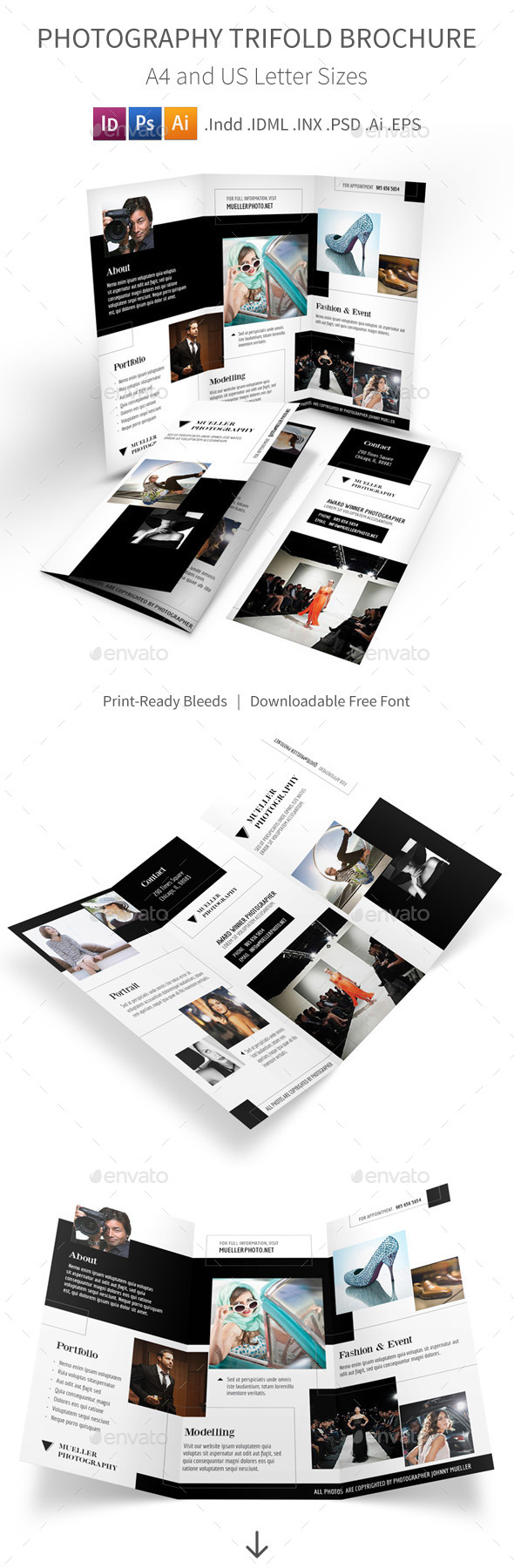 GraphicRiver Photography Studio Trifold Brochure 9822801
