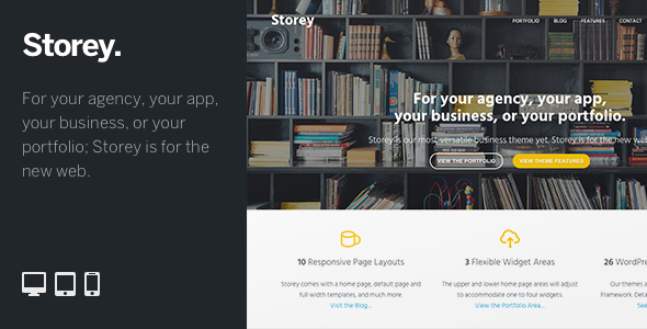 Storey is a flexible tool that allows you to stylishly communicate the narrative around your business, app, product, or portfolio. A truly versatile WordPress