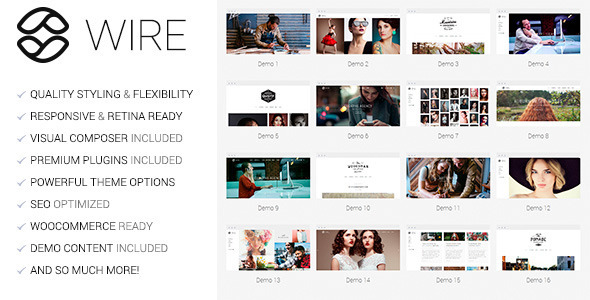 ThemeForest Wire Multi-Purpose WordPress Theme 9823014
