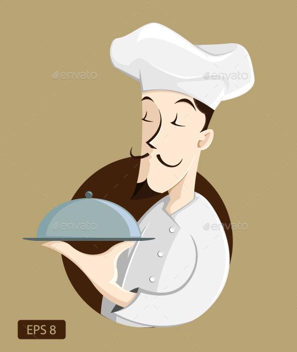 GraphicRiver Chef Illustration 9823043