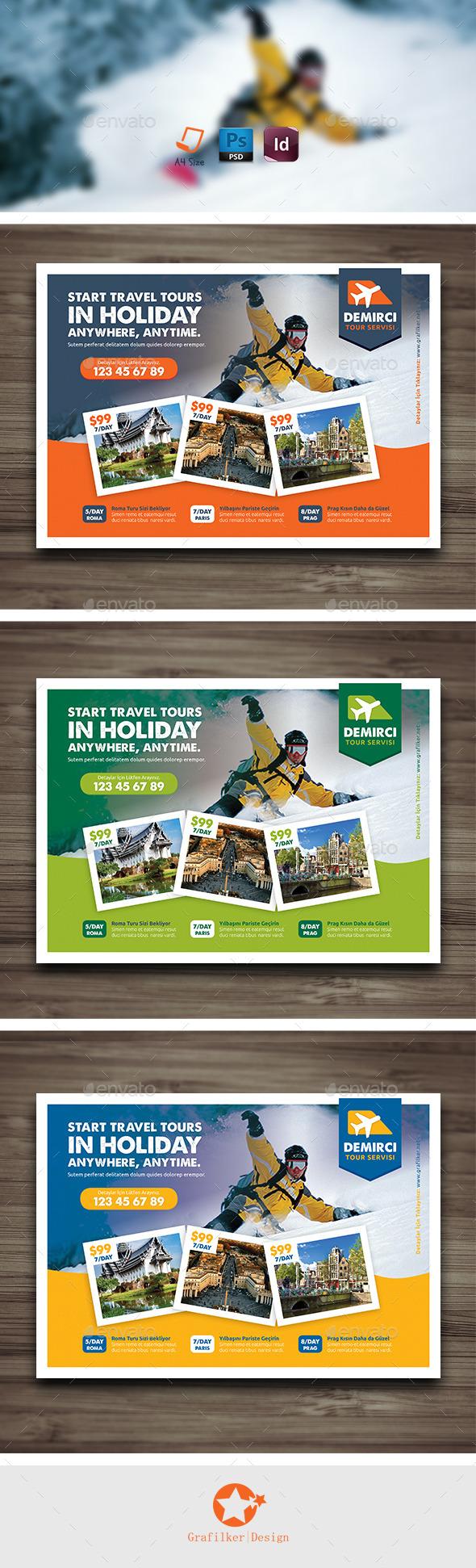 GraphicRiver Travel Tours Flyer Templates 9823574