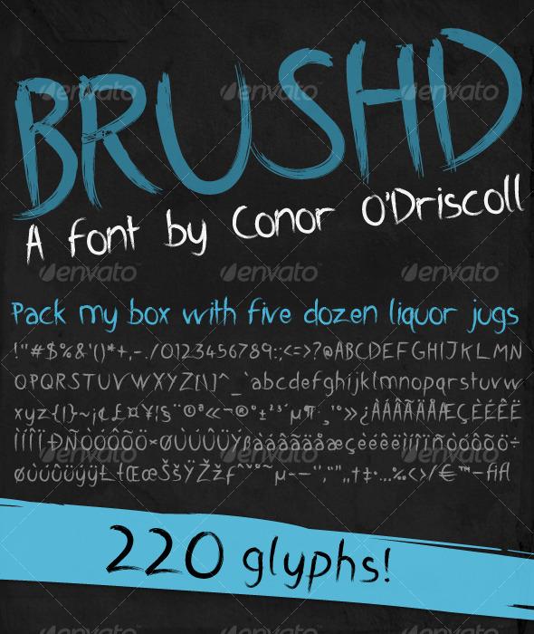 GraphicRiver Brushd Font 124795