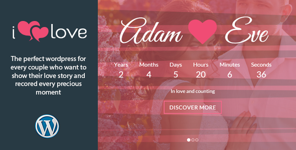 ilove – Responsive Wedding Event WordPress Theme for wedding, engagement or other events purpose. It comes with a simple yet elegant parallax design. Run