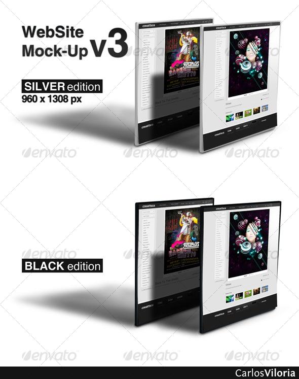 GraphicRiver WebSite Mock-Up v3 124799