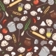 Kitchen and Food Pattern - GraphicRiver Item for Sale