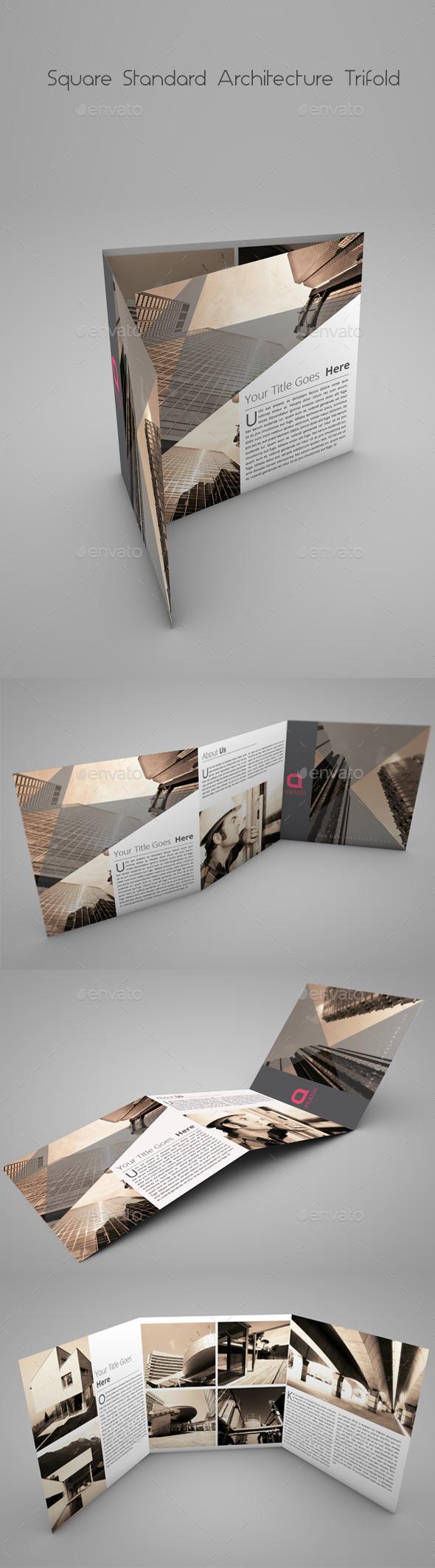 GraphicRiver Square Standard Architecture Tri-Fold 9824428