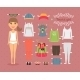 Tourist Girl Paper Doll with Clothes and Shoes - GraphicRiver Item for Sale