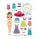 Summer Paper Doll - GraphicRiver Item for Sale