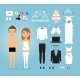 Just Married Paper Dolls with Set of Wedding Stuff - GraphicRiver Item for Sale