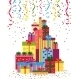 Wrapped Presents or Gift Boxes Stack - GraphicRiver Item for Sale