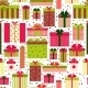 Attractive Gift Boxes Pattern on White Background - GraphicRiver Item for Sale