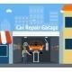 Cartooned Car Repair Garage - GraphicRiver Item for Sale