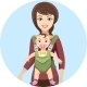 Young Mother with Baby - GraphicRiver Item for Sale