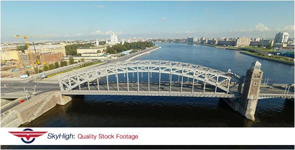 Saint Peterburg Bridge Aerial 6