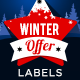 Winter and Christmas Badges - GraphicRiver Item for Sale