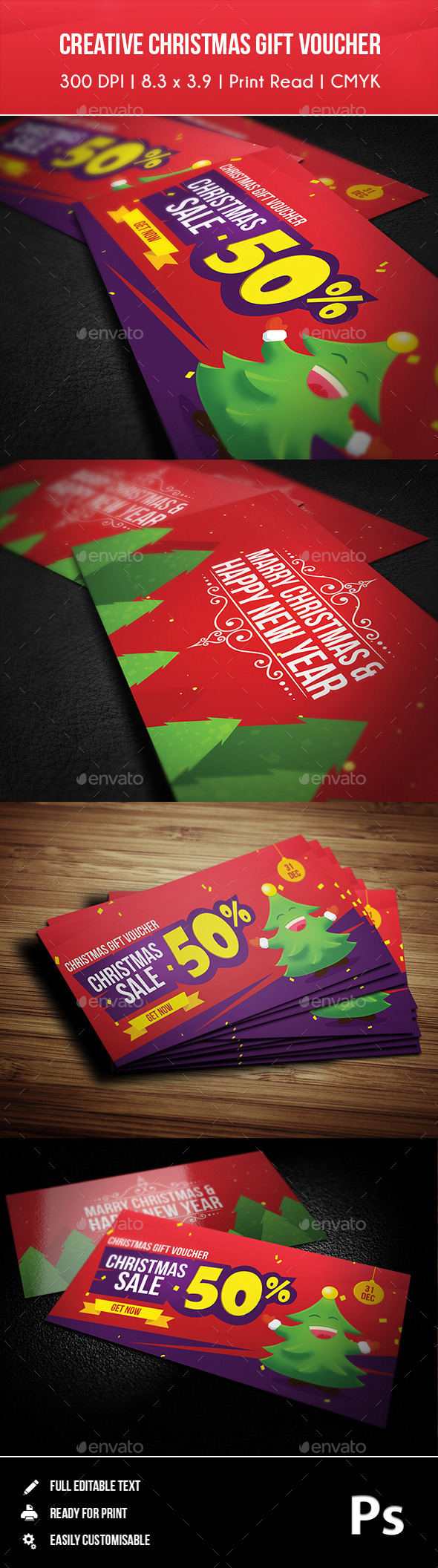 GraphicRiver Creative Christmas Gift Voucher 01 9774762