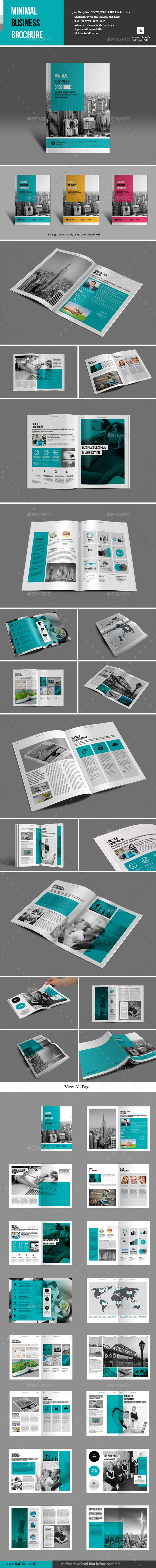 GraphicRiver Minimal Business Brochure 9787010