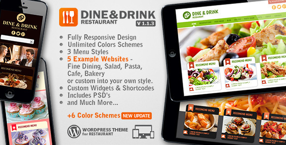Dine & Drink - Restaurant WordPress Theme - Restaurants & Cafes Entertainment