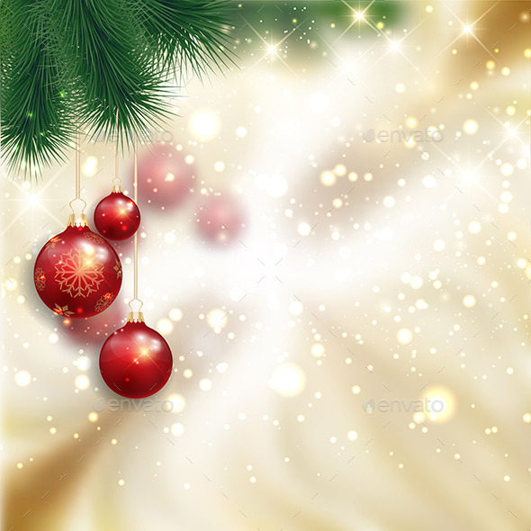GraphicRiver Christmas Bauble Background 9825407