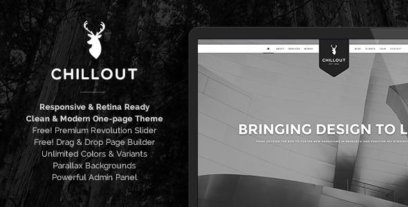 Chillout - Parallax One-Page WordPress Theme  - Creative WordPress by apollo13.eu