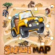 Africa Safari Map Wildlife - GraphicRiver Item for Sale