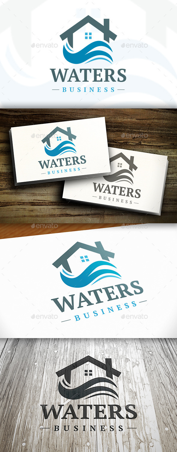 GraphicRiver Water House Logo 9825805
